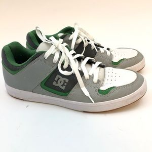 DC Skate Athletic Shoes Green White 10.5